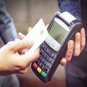 Picture of contactless payment machine